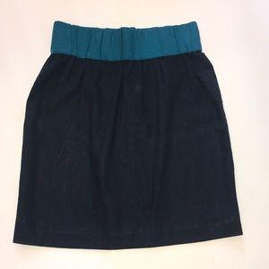 Loeffler Randall linen and silk skirt size 6
